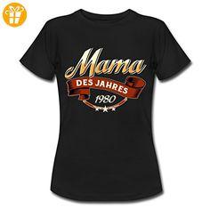Mama Des Jahres Jahrgang 1980 RAHMENLOS Geschenk Frauen T-Shirt von Spreadshirt®, XXL, Schwarz - Shirts zum geburtstag (*Partner-Link)