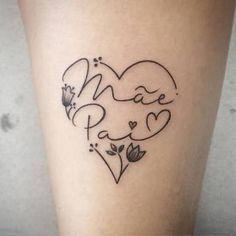 Resultado de imagem para tattoo mãe e pai Mum And Dad Tattoos, Baby Tattoos, Family Tattoos, Tattoos For Daughters, Sister Tattoos, Little Tattoos, Body Art Tattoos, Girl Tattoos, Small Tattoos
