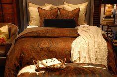 Warm Autumn Bedroom Decorating Ideas With Comfortable Autumn Bedding Set.  Orange BettwäscheEnglischer ...