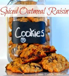 Spiced Oatmeal Raisin Cookies are sure to delight your taste buds!