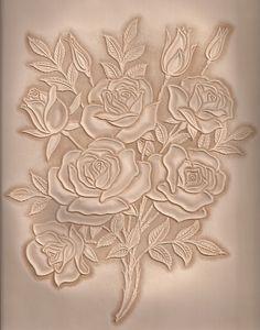 가죽공예;장미카빙(Leather craft Rose Carving) | 가죽에 장미 다발을 카빙하였습니다. | madisa1 | Flickr