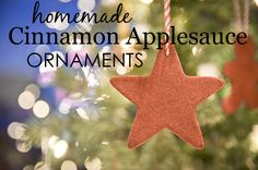 DIY Ornaments with Kids - We love these homemade ornaments made from cinnamon applesauce! Your house will smell AMAZING!