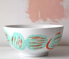 Hand Painted Mixing Bowls