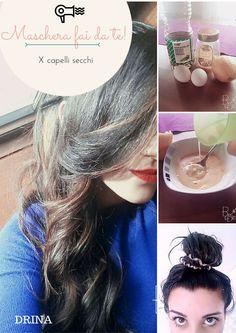 maschera per capelli secchi, fatta in casa, con semplice passaggi e soprattutto con ingredienti alla portata di tutte le cucine!! Nel mio blog troverete l'approfondimento dei passaggi e in più altre 2 maschere altrettanto semplici e efficaci!!