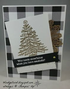 Windy's Wonderful Creations: FabFri119 Beachy In Black/White/Gold, Stampin' Up!, Beachy Little Christmas, Merry Little Christmas DSP, Magical Mermaid, foil snowflakes
