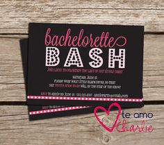 bachelorette party invitations + matching itinerary - printable, Party invitations