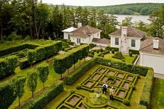 lakeside home and garden in Connecticut of designer Robert Couturier
