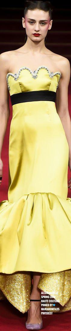 Mellow Yellow, Black N Yellow, Color Yellow, Alexis Mabille, Yellow Fashion, Couture Fashion, Mustard, Lilac, Peplum Dress