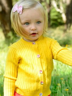 Maxine Buttercup Cardigan - Only Sizes 0 to 3 Left! - Oobi.com.au Boho Flower Girl, Luxury Dress, Buttercup, Tween, Dress Collection, Knitting, Floral, Cute, Model