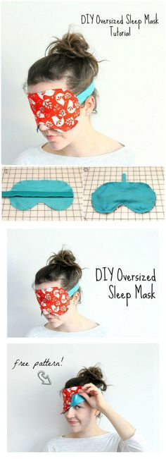 Oversized Sleep Mask - 240 Easy Craft Ideas to Make and Sell - Page 5 of 24 - DIY & Crafts