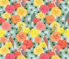 Sunny Birds fabric by lydia_meiying on Spoonflower - custom fabric