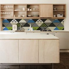 Colourful kitchen wallpaper from KitchenWalls