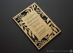 Most current Free timber laser cut wedding invitations custom unique wood rustic Thoughts Wedding Invitation Cards-Our Methods Once the time of one's wedding is set and the Area is booked, Typography Invitation, Wood Invitation, Laser Cut Invitation, Invitation Card Design, Laser Cut Wedding Invitations, Wedding Invitation Cards, Custom Invitations, Wedding Cards, Wedding In The Woods