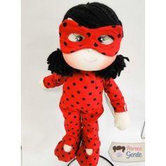 Boneca de Pano Miraculous - Ladybug 40cm