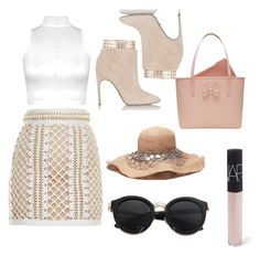 """""""Classy"""" by marlee497 ❤ liked on Polyvore featuring WearAll, Balmain, Sergio Rossi, NARS Cosmetics and Ted Baker"""