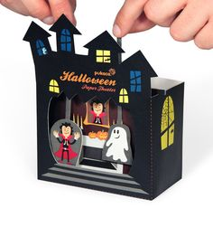 Halloween Paper Theater  4 Pages Paper Toy  DIY Craft by pukaca