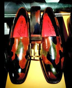 Camo patina loafers and matching cam patina belt bespoke editions by Antonio De Torres.