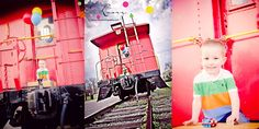 Good Idea for MJs 3 year old pics! 3 year old boy that {LOVES} trains by C. Linz Photography