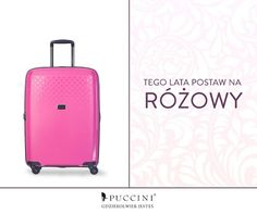 Pink is the new black! Walizki podróżne Puccini to cała gama kolorów, ale tym który dziś szczególnie polecamy jest różowy. Wyrazisty, odważny i niezwykle mody.   Wyróżnij się z tłumu: http://bit.ly/1rlsIg0