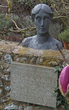 Grave Marker- Adeline Virginia Woolf-Stephen (b.1882), author died from suicide at 59. Her husband buried her cremated remains under an elm in the garden of Monk's House, their home in Rodmell, Sussex. A Marker was put up as a Memorial.