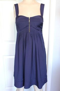 JESSICA SIMPSON Women's Flowy Blue Sleeveless Cocktail Occasion Dress Size 6 #JessicaSimpson #Sundress #Cocktail