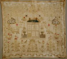1837 ANTIQUE DUTCH SAMPLER