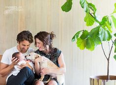 First photo of the whole family. Rufus would have preferred we'd gotten another dog. #firstmonthofmotherhood  #greatestbabyever