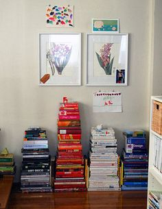 Your home for all things Design. Home Tours, DIY Project, City Guides, Shopping Guides, Before & Afters and much I Coming Home, Stack Of Books, Book Collection, Interiores Design, Cozy House, Color Blocking, Bookcase, Shelves, Storage