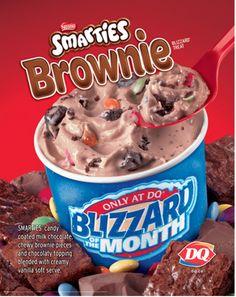 Dairy Queen Restaurant Copycat Recipes: Smarties Brownie Blizzard