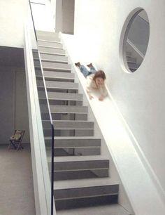 Staircase slide, London. Architect Alex Michaelis.