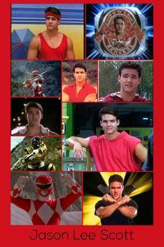 Jason Lee Scott-Red Mighty Morphin Ranger & Gold Zeo Ranger Power Rangers 1995, Power Rangers Poster, Power Rangers Zeo, Power Rangers Ninja Steel, Pawer Rangers, Go Go Power Rangers, Mighty Morphin Power Rangers, Jason Lee Scott, Forever Red