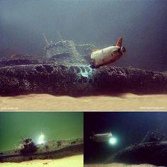 Believe it!!! It is a diorama!!! Type VIIC U-Boat Wreck (1/72 Revell) and Shinkai 6500 (1/144 Takara). Modeler André Kröcher #scalemodel #diorama #modelismo #modelism #plasticmodel #plastimodelismo #miniatura #plastickits #usinadoskits #udk