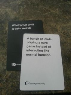"""24 Times """"Cards Against Humanity"""" Was Too Real. The cards speak the truth. I seriously was cracking up at work reading these, people were starting to look at me funny. Funny Pins, Funny Memes, Funny Stuff, Jokes, Random Stuff, Random Things, Funny Shit, Funny Cute, The Funny"""