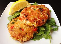Paleo Crab Cakes with a Lemon Vinaigrette   #justeatrealfood #paleocupboard
