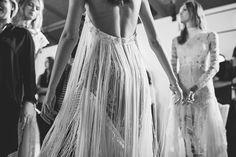 FOR THE BRIDE FROM THE RUNWAY    NOVELA BRIDE...Tasseled fringe    Where the modern romantics play & plan the most stylish weddings... www.novelabride.com @novelabride #jointheclique