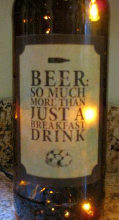 Lighted Bottle BEER.... $20.00, via Etsy.