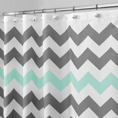 InterDesign Chevron Shower Curtain - Walmart.com