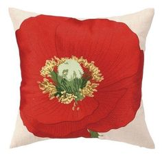 Red Poppy Decorative Pillow