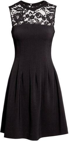 H&M - Sleeveless Dress - Black - Ladies