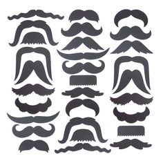 30 Mustache Cut Outs - Die Cuts - Photo Props - Party Decorations - Garlands - Party Straws - Photo Booths. $14,00, via Etsy.