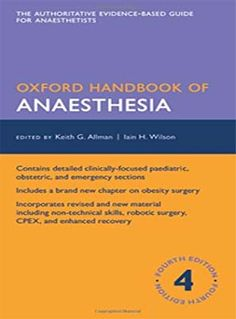 Now on its fourth edition, the Oxford Handbook of Anaesthesia provides authoritative, concise guidance on all aspects of anaesthesia. Evidence-based, up-to-date O Donnell, Oxford Books, Interventional Radiology, Robotic Surgery, Medical Information, Got Books, New Chapter, Pediatrics, Livres