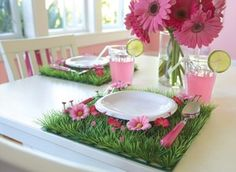 daisy grass rug | Grass Mat with Daisy Flowers Placemat - modern - table linens - by ...