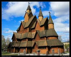 Norwegian Stave Church, circa 1000-1300. Amazing - wooden medieval buildings, still intact.