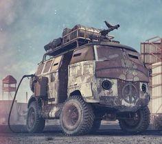Mad Max/Zombie Apocolypse VW Split Window Mash Up