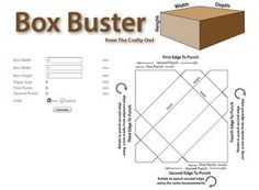 Box Buster online calculator for envelope punch board paper dimensions