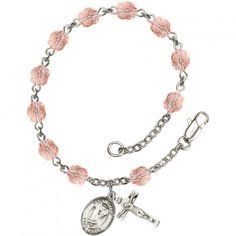 Patron Saint Birthstone Rosary Bracelet. Available in your choice of birthstone and patron saint medal, making them lovely keepsakes of the faith and great gifts for #Confirmation or #FirstCommunion.