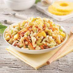 Salade de macaronis au jambon et à l'ananas - 5 ingredients 15 minutes My Best Recipe, Cold Meals, Salad Recipes, I Am Awesome, Salads, Good Food, Lunch Box, Brunch, Pasta