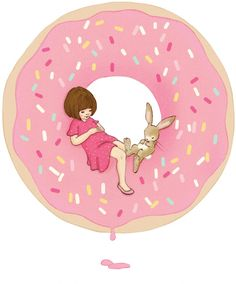 Belle & Boo donut wallsticker