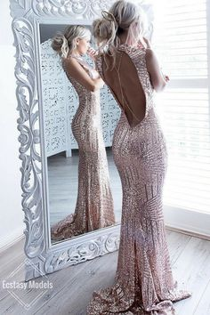 Rose GoldRose Gold Sequin Gown by @hotmiamistyles Fashion Look by Hilde Osland