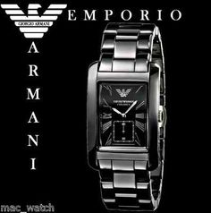 EMPORIO ARMANI Herren Uhr AR1406 Ceramica Keramik schwarz Original NEU